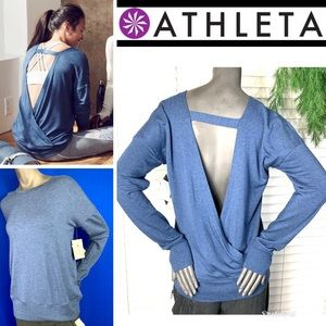 NWT🤩|•ATHLETA•|Chakra Crossover V-back Sweatshirt